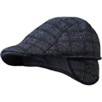 Zacharias Men's Cotton Golf Cap with Earmuff (Black, Free Size)