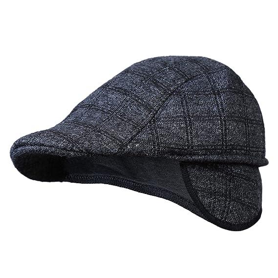 b0c32ef30e3 Zacharias Men s Cotton Golf Cap with Earmuff (Black