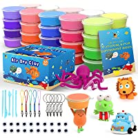 Cutedeer 36 Colors Air Dry Clay Kit for Kids, Magic Modeling Clay Ultra Light Clay with Sculpting Tools, Accessories…