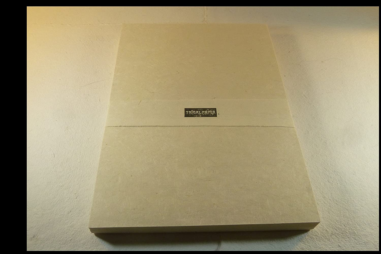 Favori de papier imprimante parchemin en raphia Seidel A4100feuilles Ramette papier vergé Papier à lettre tribal paper bhutanarts
