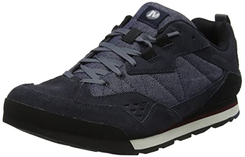 Merrell Burnt Rock Tura Low, Sneaker Uomo, Marrone (Kangaroo/Denim Blue), 40 EU