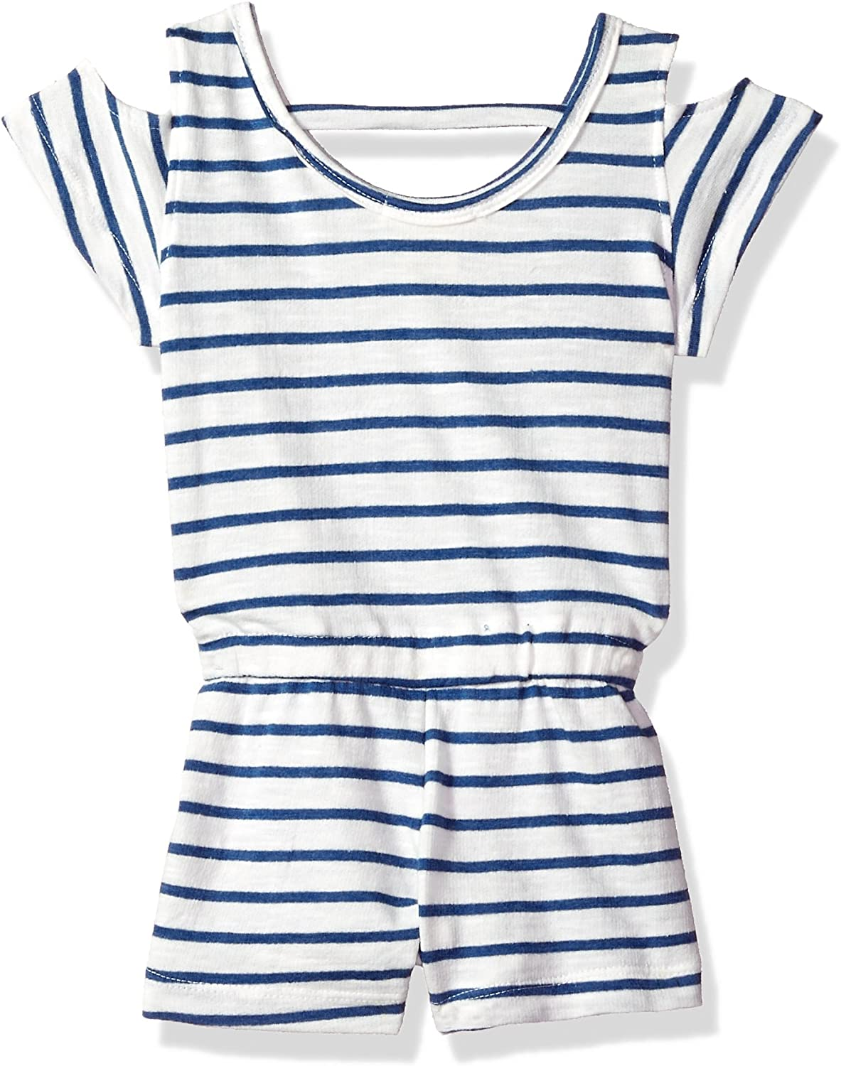 One Step Up Girls French Terry Romper