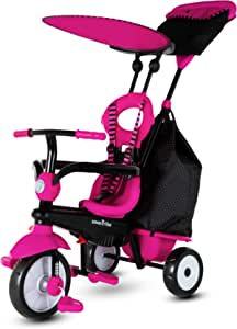 smarTrike Vanilla Plus Toddler Tricycle for 1,2,3 Year Olds - 4 in 1 Multi-Stage Trike, Pink