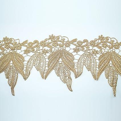 Amazoncom 195mm Gold Metallic Lace Bridal Wedding Lace