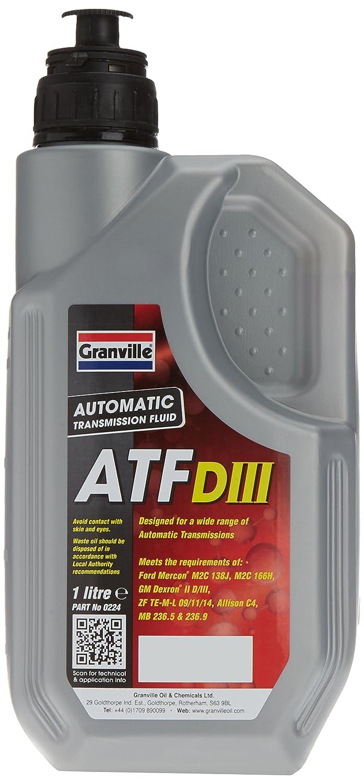 Granville 0224 ATF Dexron III - Lí quido para transmisiones automá ticas y direcció n asistida (1 l)