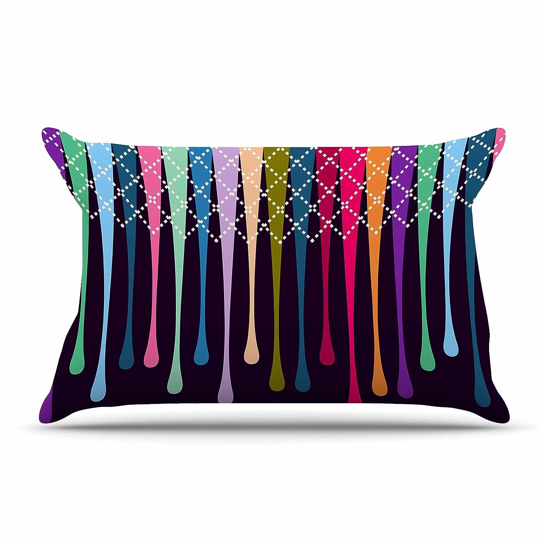68 X 80 Kess InHouse Nicole Ketchum Moroccan Purple Wall Tapestry