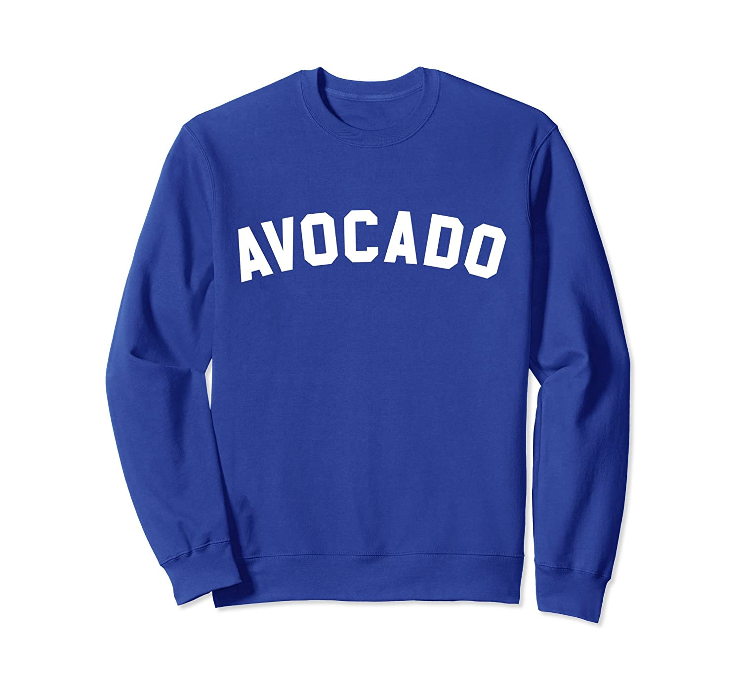 Avocado Sweatshirt - Athletic Gym Text Print-TH