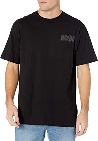 ACDC Licensed Back In Black Rock Tee T-Shirt Clothing Men