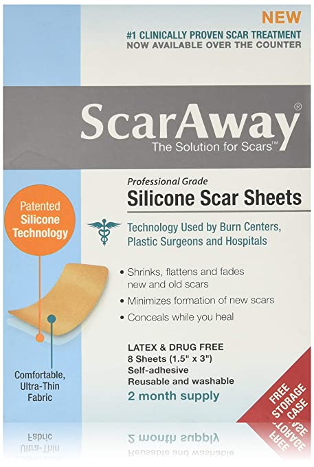 Buy Scaraway Silicone Scar Sheets 1 5x3 8 Online At Low Prices