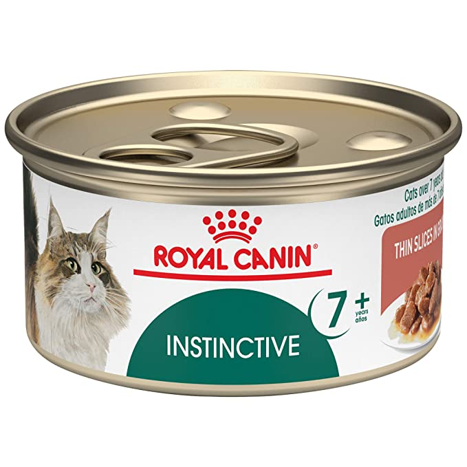 Royal Canin Feline Health Nutrition Instinctive 7+ Vitality Support Thin Slices in Gravy Canned Cat Food, 3 Ounce Can (Pack of 24)
