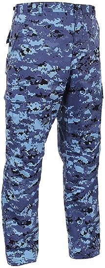Bellawjace Clothing Sky Blue Digital Camouflage Military BDU Cargo Bottoms Fatigue  Pants d77aba3b580
