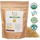 Just Jaivik 100% Organic Fenugreek Powder- 0.5 LB / 227g / 08 oz- USDA Certified Organic - Trigonella Foenum Powder- Methi Powder