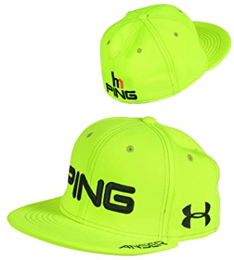 Ping Golf Hunter Mahan Flat Bill Cap Hat Under Armour Yellow M L   Amazon.ca  Clothing   Accessories d46c73ed1cf9