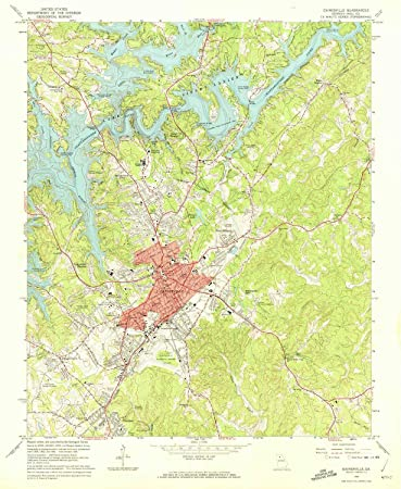 Amazon Com Yellowmaps Gainesville Ga Topo Map 1 24000 Scale 7 5