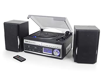Steepletone Memphis 5 In 1 Music System   3 Speed Turntable / CD Player