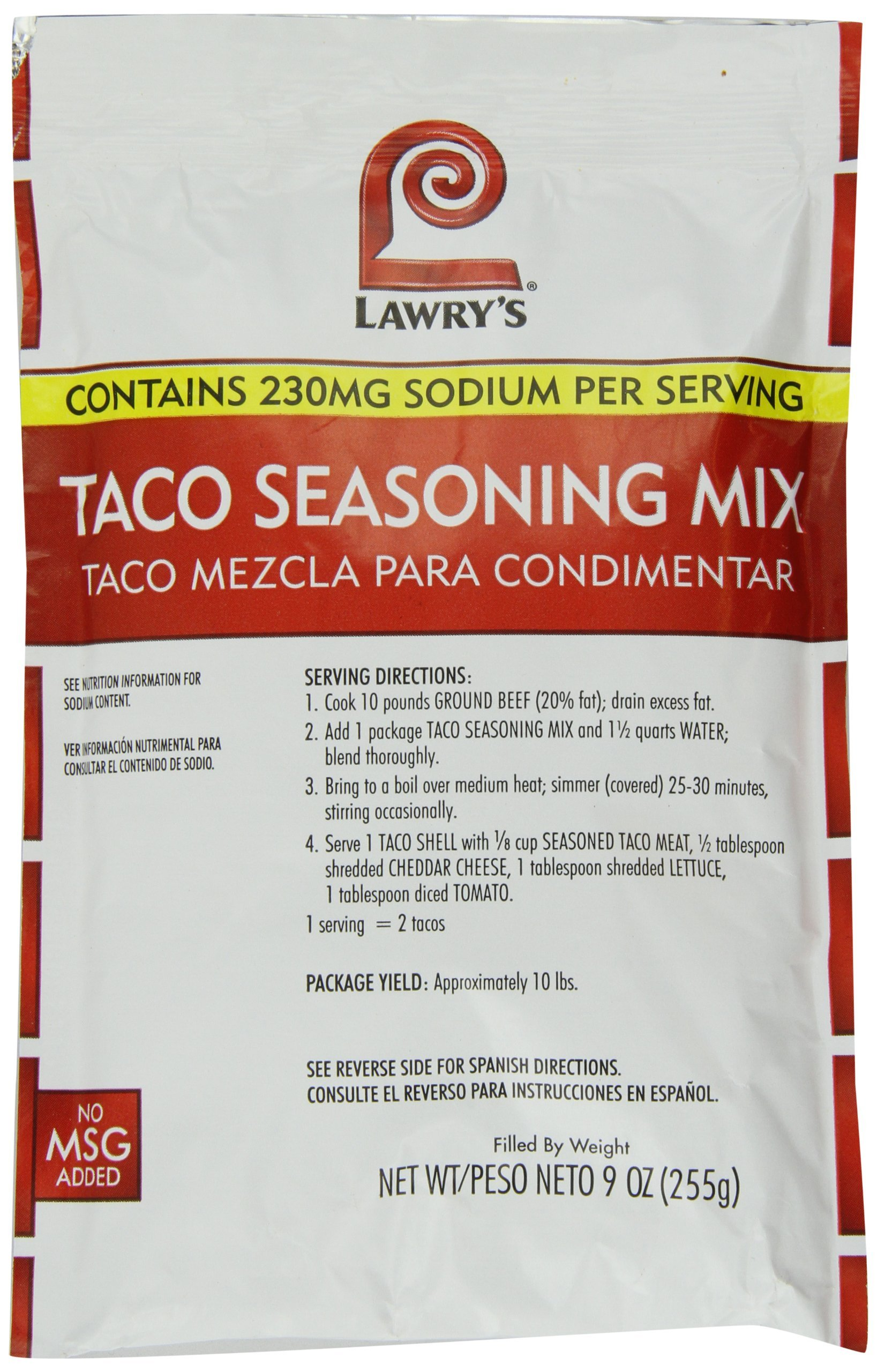 Lawrys Taco Seasoning Mix, 9 -Ounce Packages (Pack of 6)
