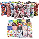 Women Hygiene Sanitary Pad, Feminine Reusable Panty Liner,Bamboo Cloth Mama Menstrual Sanitary Nappy Towel Pad (25.5 x 18cm) (10PCS)