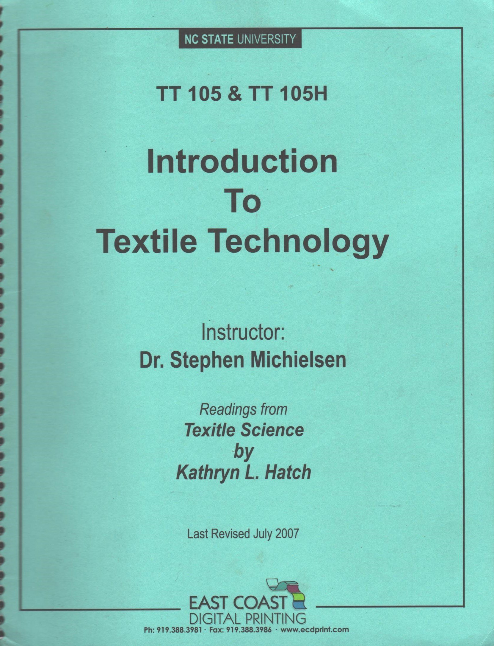 Textile Technology: An Introduction