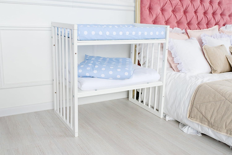 ComfortBaby /® Wickelauflage Wickelmulde 50 x 70 cm passend zum SmartGrow 7in1 Babybett hellblau