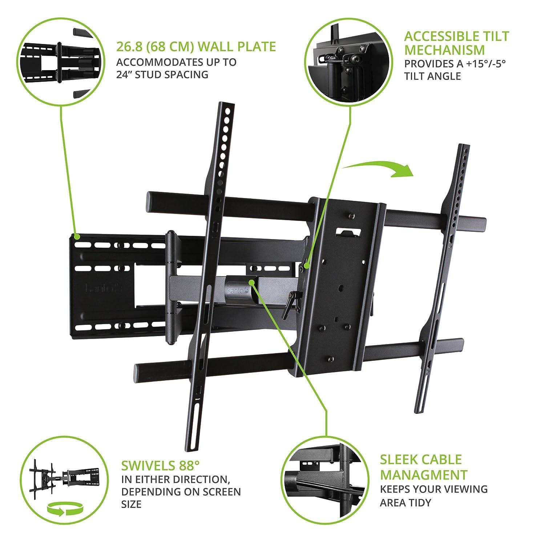 Kanto FMX3 TV Halterung // Wandhalterung Für 40   90 Zoll Flachbildschirm  TV, Schwenkbar, Ausziehbar, Neigbar   Überlegene ...