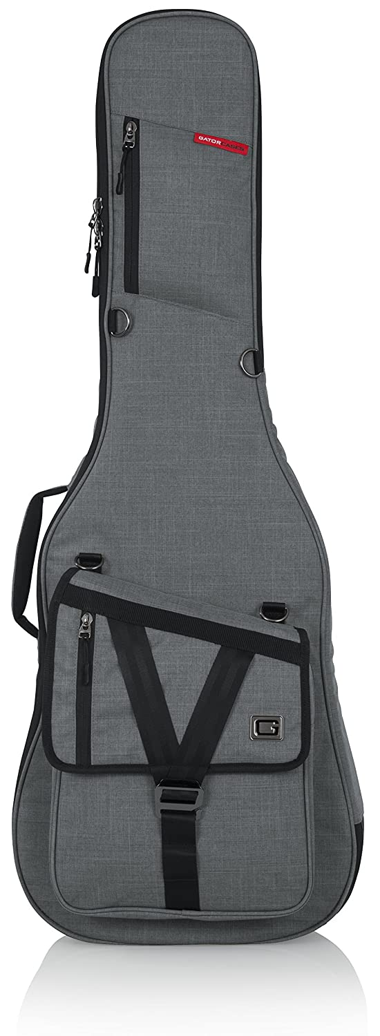 Gator Cases Transit Series Electric Guitar Gig Bag; Light Grey Exterior (GT-ELECTRIC-GRY)