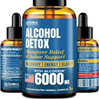 Advanced Liver Detox & Hangover Cure with AlcoGene 6000MG - Great Hangover Prevention...