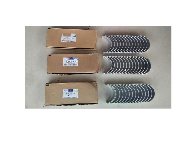Amazon.com: D2366T D2366 DE12 DE12T DE12TI DE12TIS piston ring + gasket kit + bearing set for doosan daewoo: Car Electronics