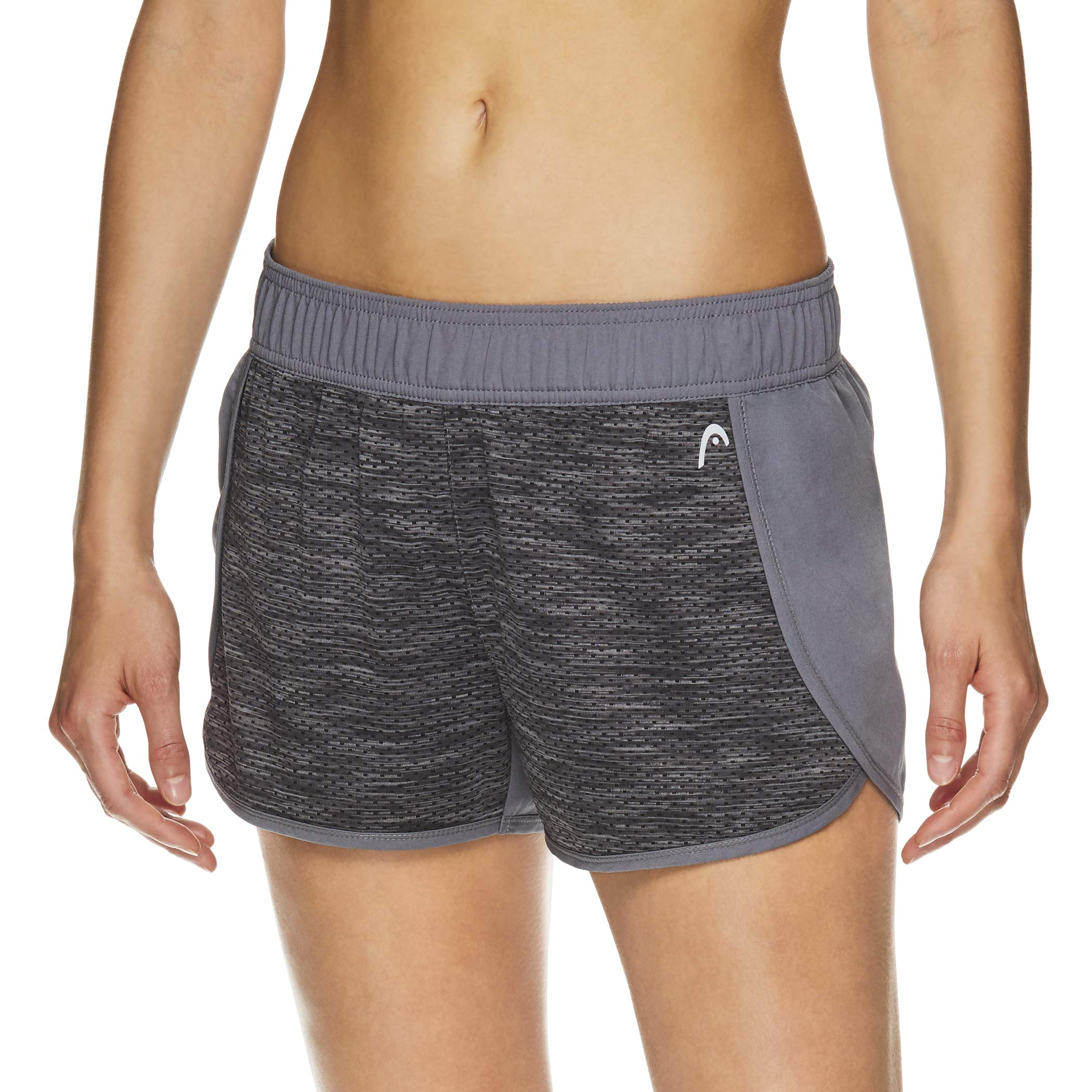 HEAD Women's Athletic Workout Shorts - Polyester Gym Training & Running Short - Quietshade, Small