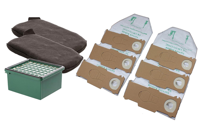24 Sacchetto per aspirapolvere 4 tessuto non tessuto si adatta FILTRO PER ASPIRAPOLVERE VORWERK FOLLETTO 130 131