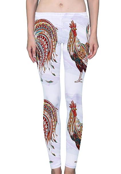Amazon.com: LuxSweet Fiery Rooster - Mallas para mujer con ...
