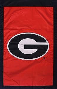 NCAA Georgia Bulldogs Double Sided 28 x 44-Inch Applique Flag