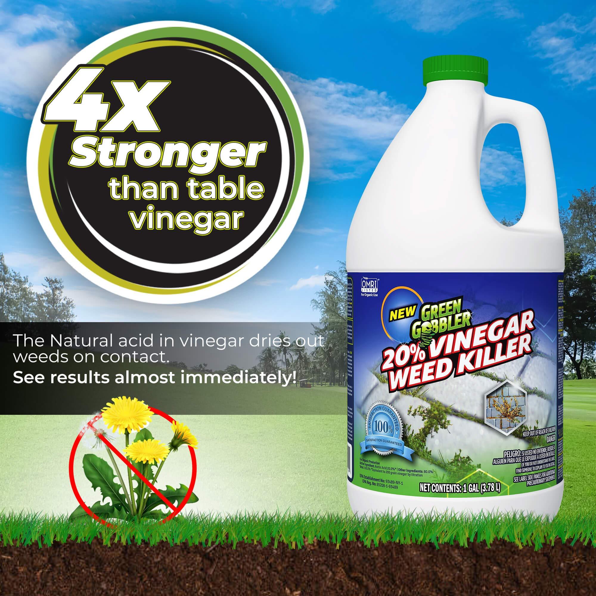 Green Gobbler 20% Horticultural Vinegar Weed Killer   Herbicide   Natural Weed Killer   Organic Weed Killer (5 Gallon Pail) by Green Gobbler (Image #5)