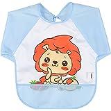 babylaza baberos bebe babero bebe,unisex bebé manga impermeable Bib Babero para comer y jugar