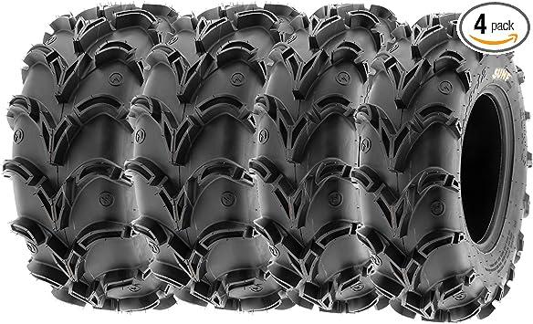 Sun.F A048 ATV Mud Tires 26x9-12 Front /& 26x11-12 Rear Set of 4