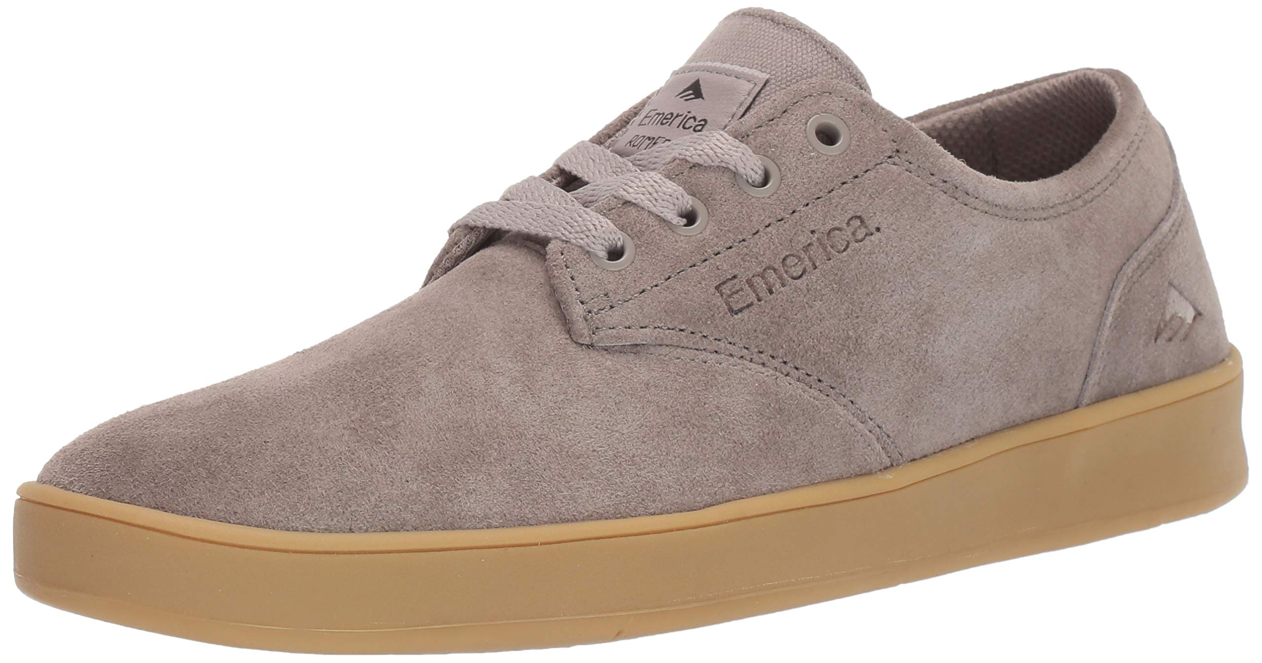 Emerica Men's The Romero Laced Skate Shoe, Warm Grey/tan, 8.5 Medium US by Emerica