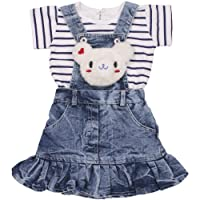 Indian Evergreen Girl's Jeans Denim Dungaree Dress