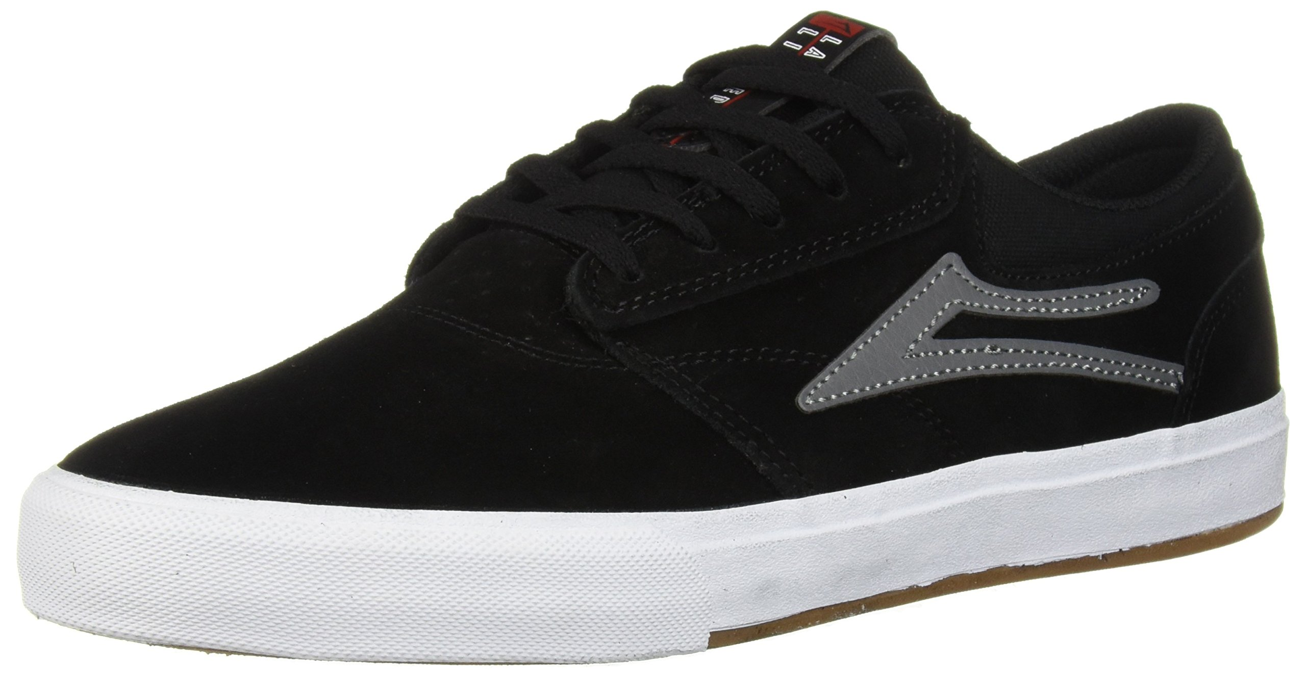 Lakai Men's Griffin, Black/Grey Suede, 10 M US