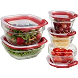Rubbermaid Easy Find Lids Glass Food Storage Containers, 10-Piece Set