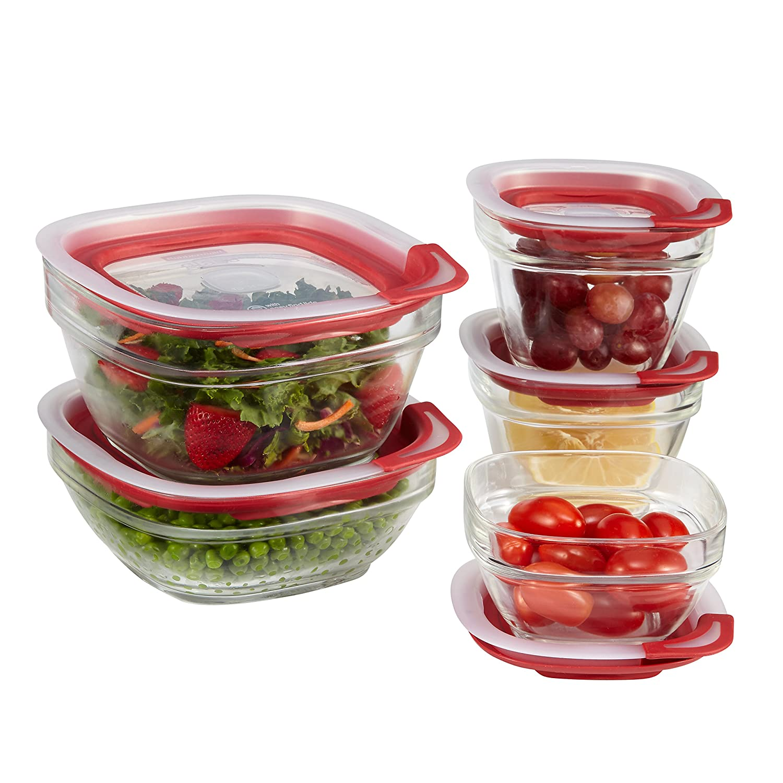 rubbermaid 1812453 easy find lid glass food storage. Black Bedroom Furniture Sets. Home Design Ideas