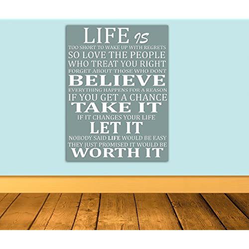 Canvas Quotes Wall Art: Amazon.co.uk