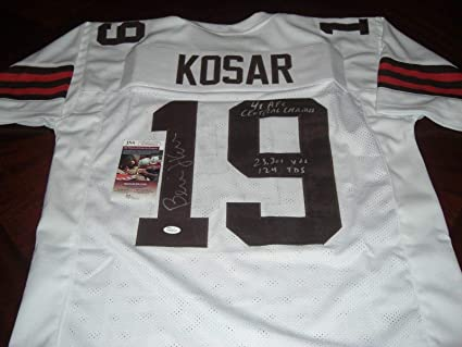 Nice Autographed Bernie Kosar Jersey 4x Afc Central Champs 23301 Yds  for cheap