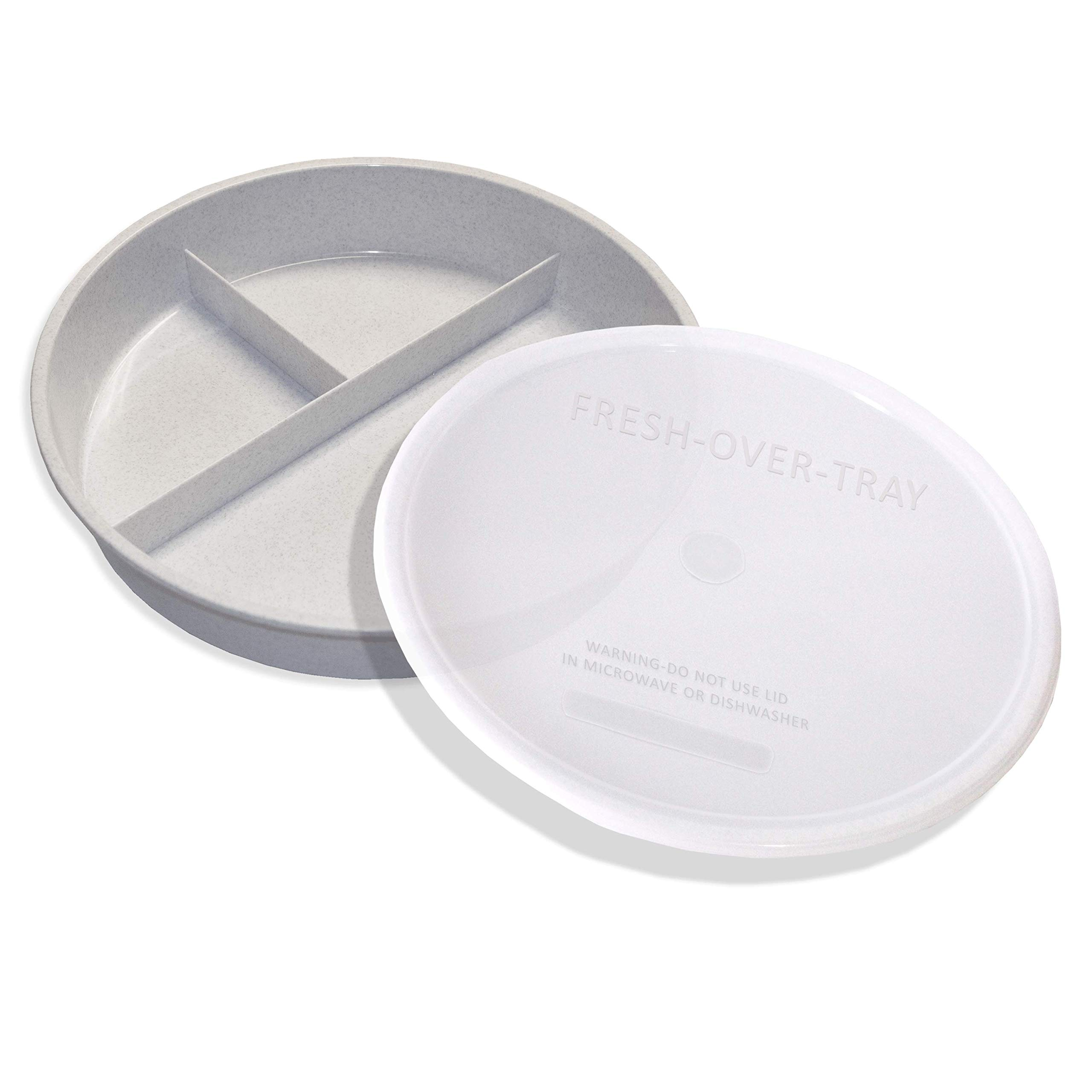 High Sided Partitioned Dish with Lid by Rehabilitation Advantage