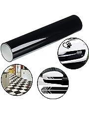 Rollo Vinilo Negro - 30cm x 3m Rollo Vinilo Autoadhesivo para Pasatiempos, Proyectos de Manualidades
