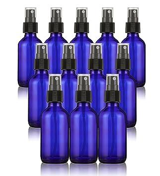 Juvale Fine Mist - Juego de 12 mini botellas con spray pulverizador para aceites esenciales,
