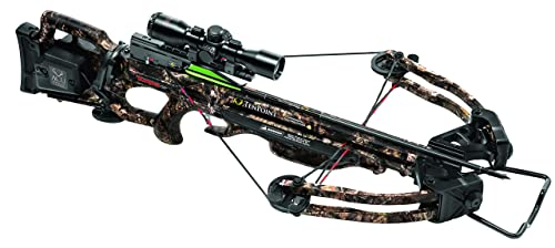 TenPoint Turbo GT Crossbow Package with 3x Pro-View 2 Scope, 3 Pro-Elite Carbon Arrows, 3-Arrow Instant Detach Quiver, and Ambidextrous Side Quiver Mount - 3