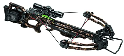 TenPoint Turbo GT Crossbow Package with 3x Pro-View 2 Scope, 3 Pro-Elite  Carbon Arrows, 3-Arrow Instant Detach Quiver, and Ambidextrous Side Quiver