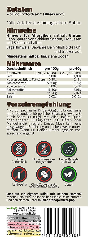 Müsli De Bio Weizenflocken 3x435g Für Eine Vegane Ernährung