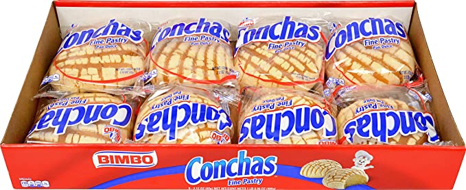 BIMBO Conchas Panaderia Mexicana Pan de Dulce (Fine pastry) 16oz, pack of 1
