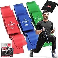 Resistance band - Weerstandsband set van 3 / Extra lange 2m Fitnessbanden + Trainingsgids | Gymnastiekband Fitness…