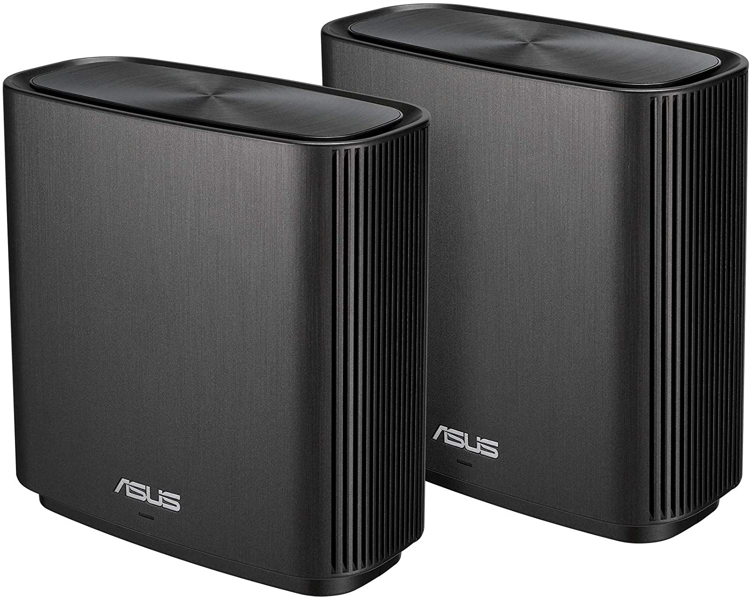 ASUS ZenWiFi AC Whole-Home Tri-Band Mesh System (CT8 2 Pack Charcoal) Coverage up to 5,400 sq.ft, AC3000, WiFi, Life-time Free Network Security and Parental Controls, 4X Gigabit Ports, 3 SSIDs